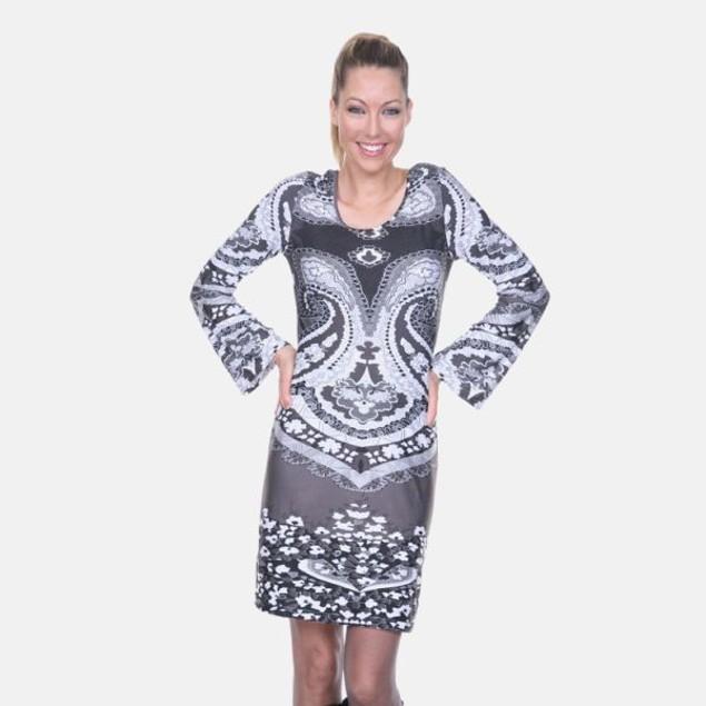 Abigail Black & White Print Dress