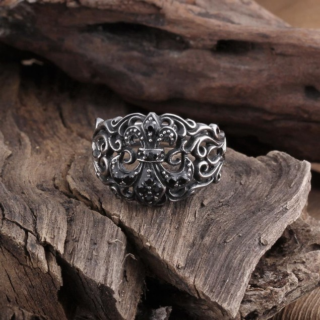 Stainless Steel Hollow Design Ring