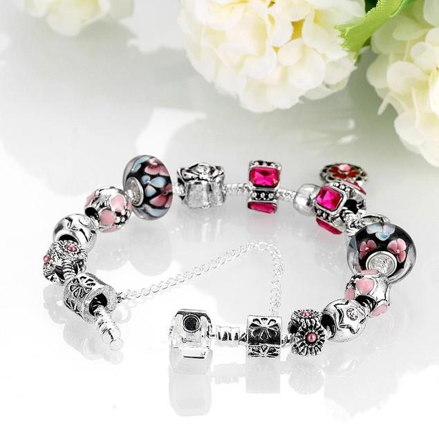 Light Pink Wave Designer Inspired Bracelet
