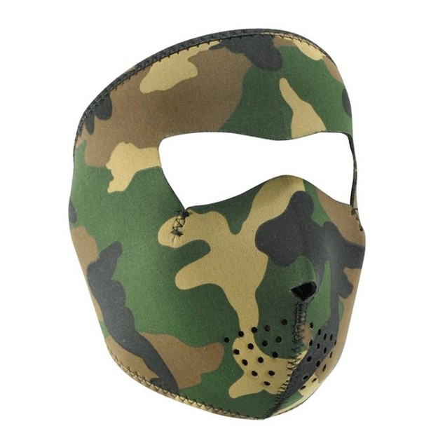 Neoprene Full Mask - Small, Woodland Camo