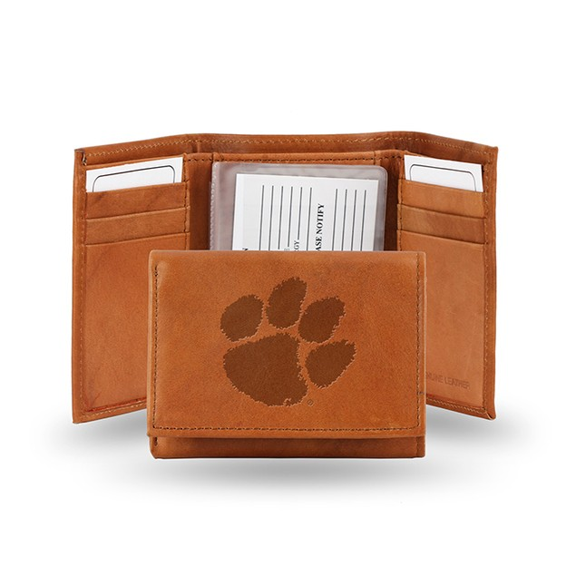 Clemson Leather Manmade Trifold