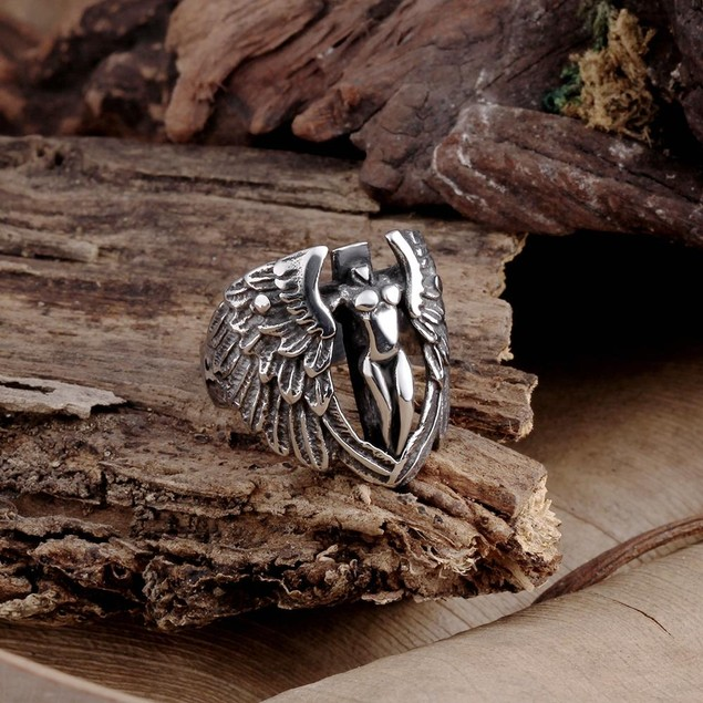 The Flying Angle Stainless Steel Ring
