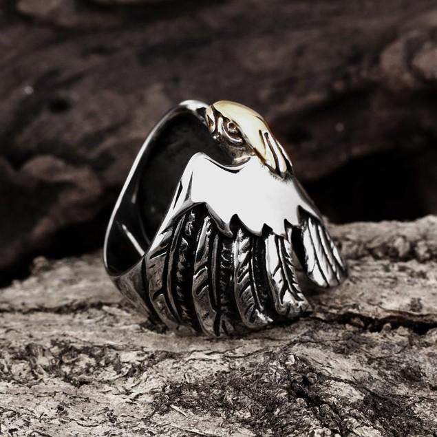 Citrine Gem Stainless Steel Ring