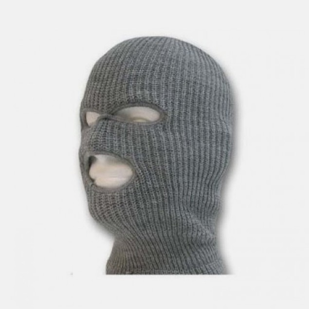 2pk Unisex Winter Knit 3 Hole Ski Mask in 5 Colors