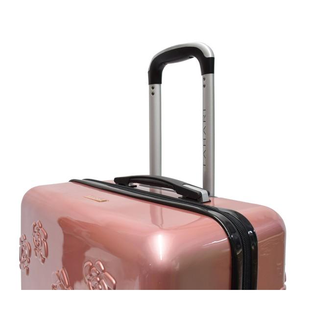 Tahari New York Molded 3D Embossed Rose 8-Wheel 3-Piece Luggage Set