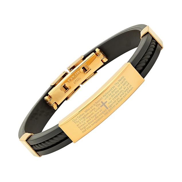 Lords Prayer Stainless Steel Bracelet