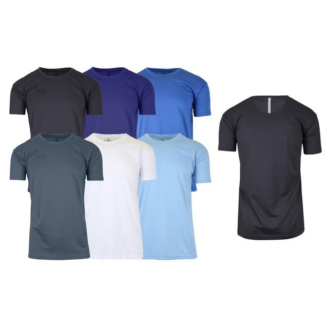 6-Pack Men's Moisture Wicking Short Sleeve Tee (Sizes, S-2XL)