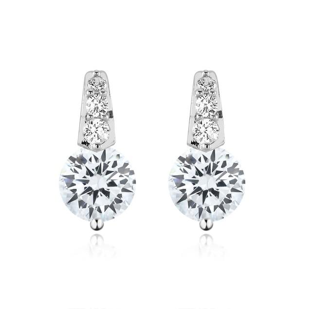 5cttw Sparkling Cubic Zirconia Dramatic Stud Earrings