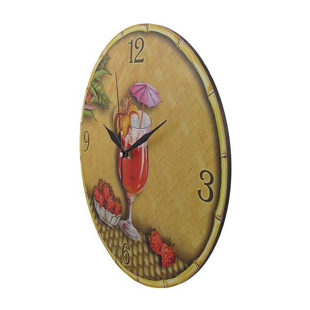 Tropical Strawberry Daiquiri Themed Wall Clock 12 Wall Clocks
