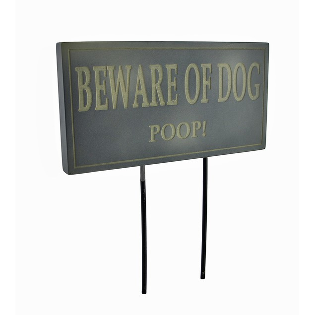 Funny Beware Of Dog Poop Lawn/Garden Stake Sign Garden Stakes
