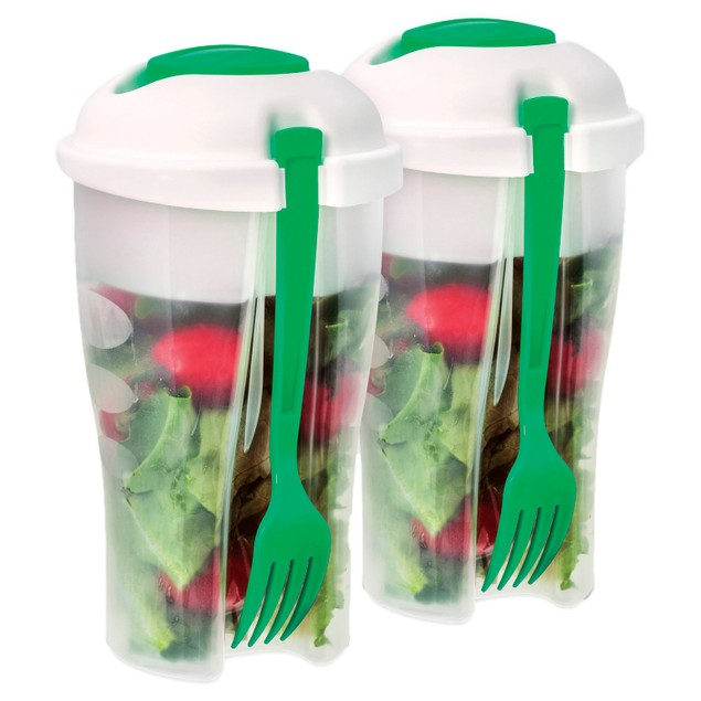 2-Pack Salad to Go Container with Ice Chamber