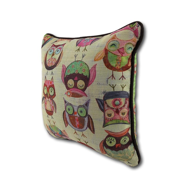 Wendy Bentley Give A Hoot Owl Accent Pillow 10 In. Throw Pillows