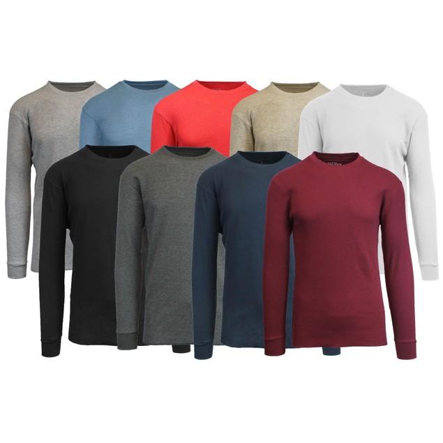 Men's Long-Sleeve Waffle-Knit Thermal Shirt (M-6X)