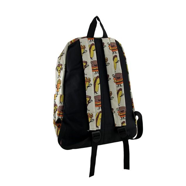 Hamburger Pizza Hotdogs And Fries Food Theme Womens Backpack Purses