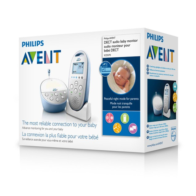 Philips Avent DECT Audio Baby Monitor SCD570