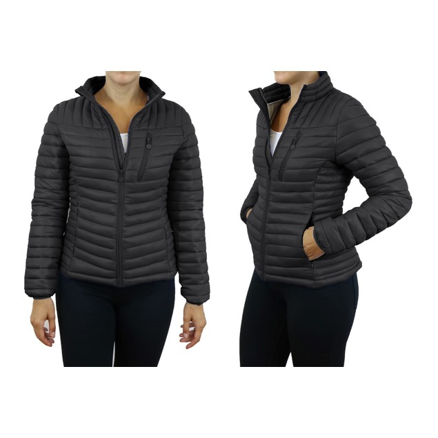 Spire By Galaxy Womens Lightweight Puffer Jackets - 2 Pocket Styles