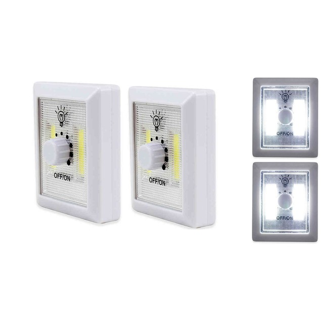 4-Pack Stick On Dimmer Led Light