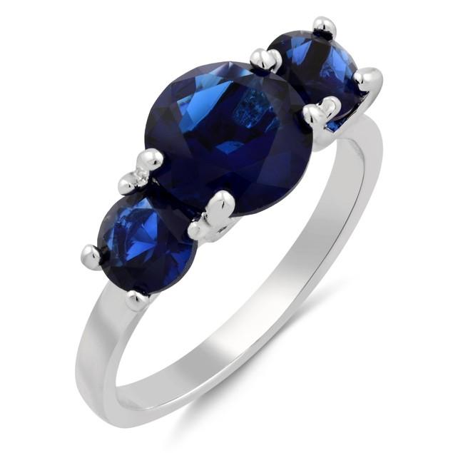 Classic Three-Stone Cubic Zirconia Ring - 3 Colors
