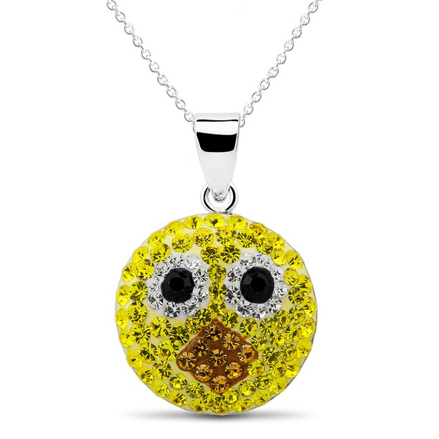 Kids Playful Emoji Crystal Necklaces - Assorted Styles