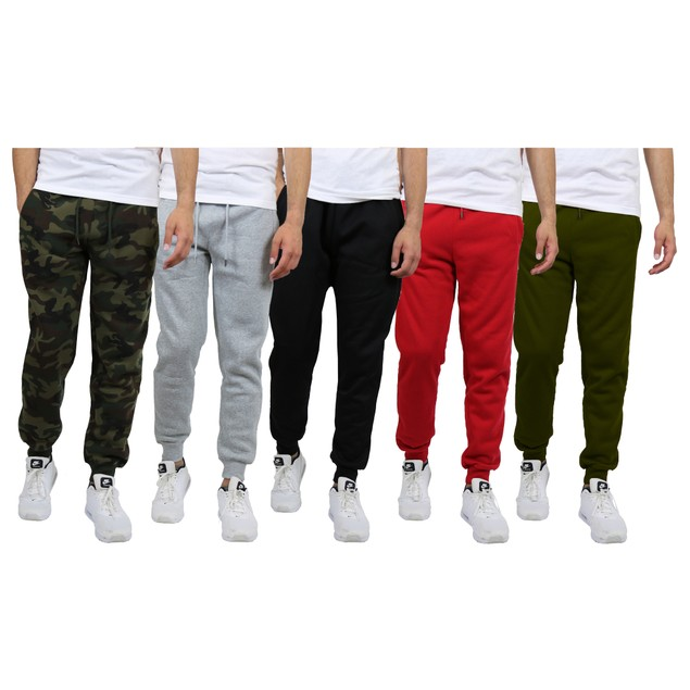 3-Pack Men's Fleece Jogger Sweatpants (S-2XL)
