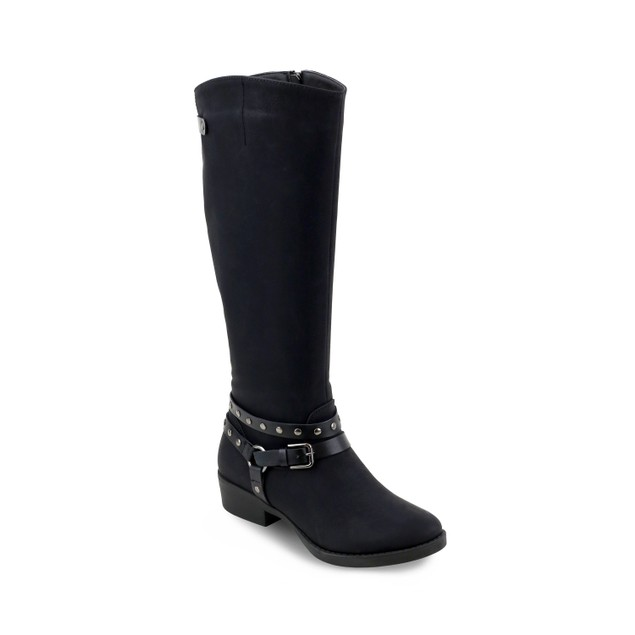 Olivia Miller 'Freeport' Studded Strap Buckle Riding Boots