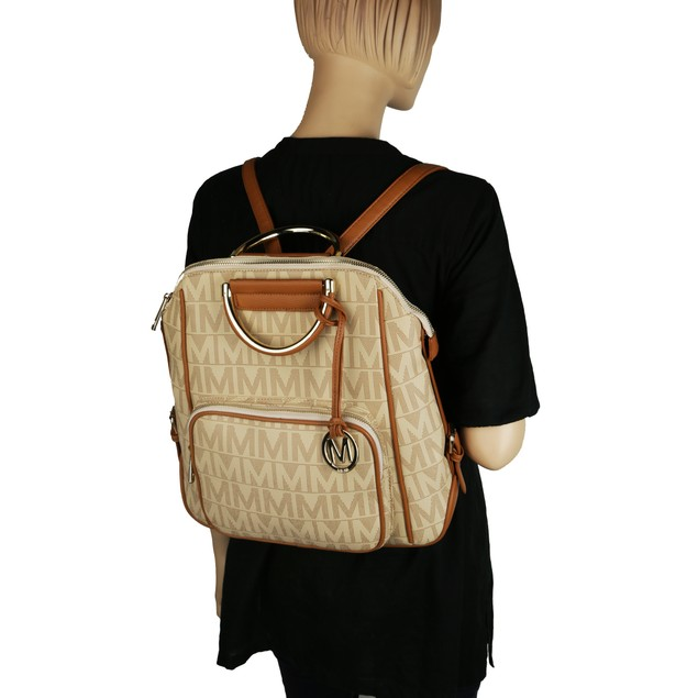 MKF Collection Cora Milan M Signature Trendy Backpack by Mia K.