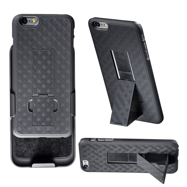 Encust Combo Case with Kickstand & Holster for iPhone 7/7 Plus & 6/6s Plus