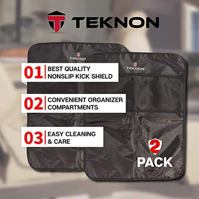 2-Pack Teknon Seat Back Protector Kick Mats for Cars  Waterproof