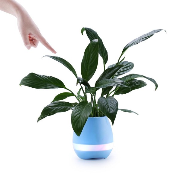 Mini Smart Flower Pot with Bluetooth Speaker