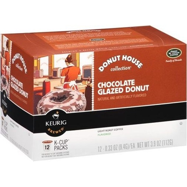 Donut House Collection Chocolate Glazed Donut Coffee Keurig K Cup