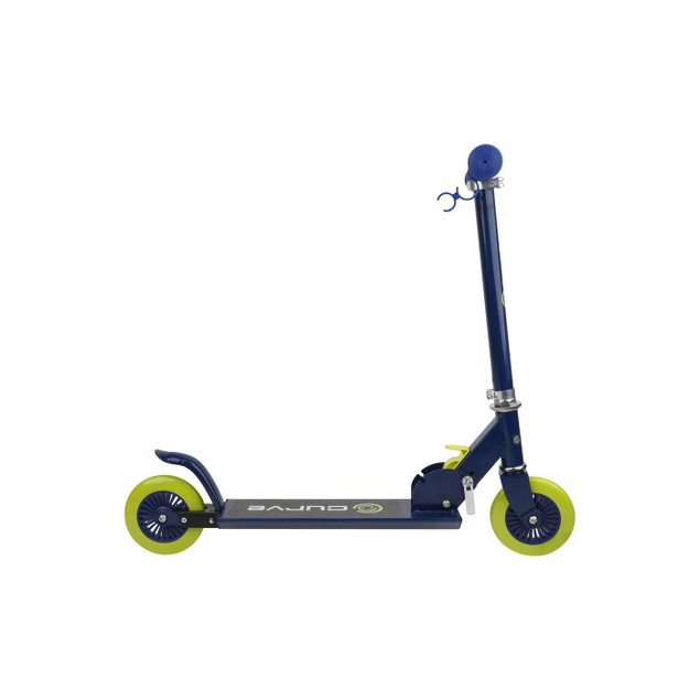 Curve Folding Metal Kick Scooter (Blue/Orange)