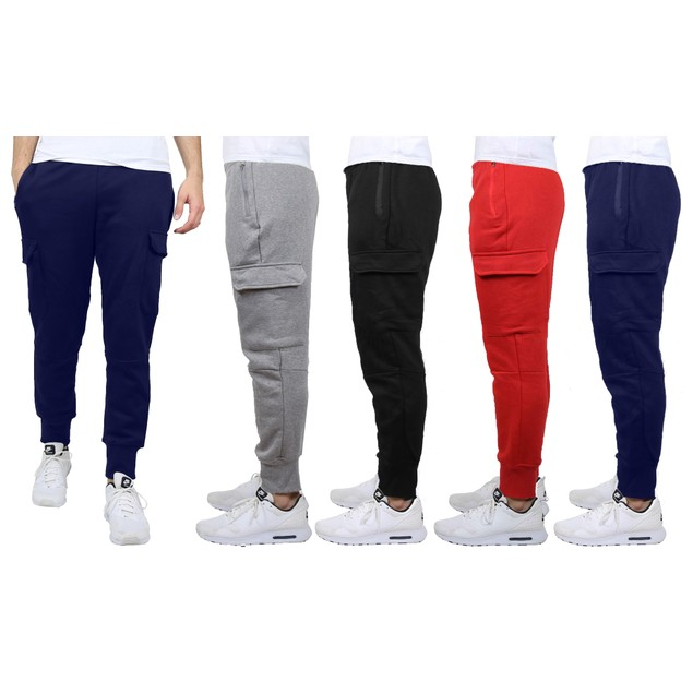 2-Pack Heavyweight Fleece-Lined Cargo Jogger Sweatpants (Various Colors)
