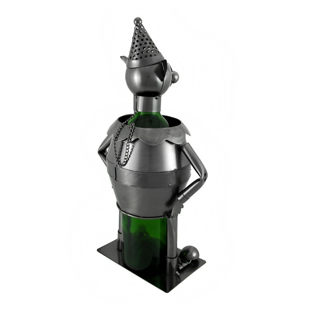 Funny Clown Metal Sculpture Wine Bottle Display Tabletop Wine Racks