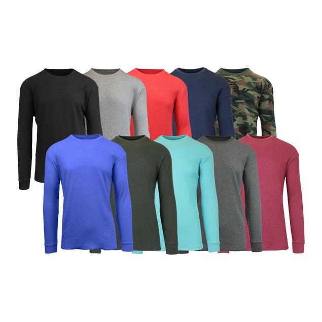 4-pack Galaxy by Harvic Waffle Knit Thermal Shirts
