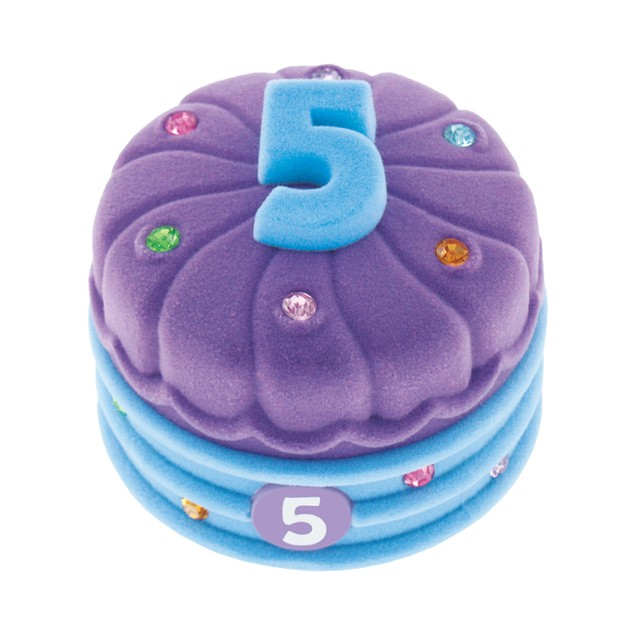 Girl's Birthday Cake Number Pendant Necklace - Choose Age 3 to 8