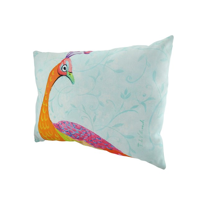 Perfect Trio Peacocks In/Outdoor Decorative Throw Patio Furniture Pillows