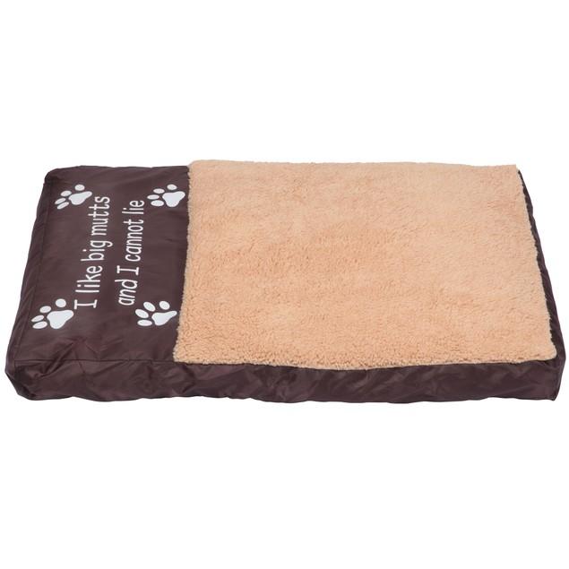 Faux Sheepskin Memory Foam Pet Bed - I Like Big Mutts and I Cannot Lie