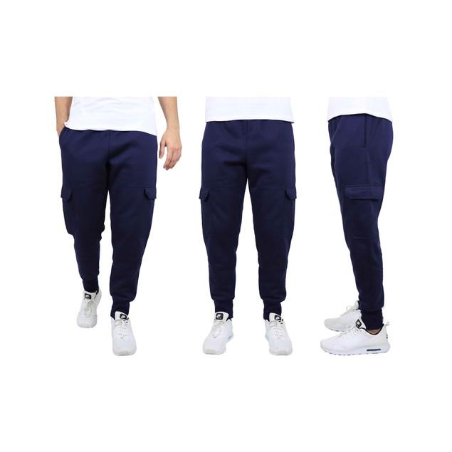 Men's Heavyweight Cargo Fleece Jogger Sweatpants (S-XL)
