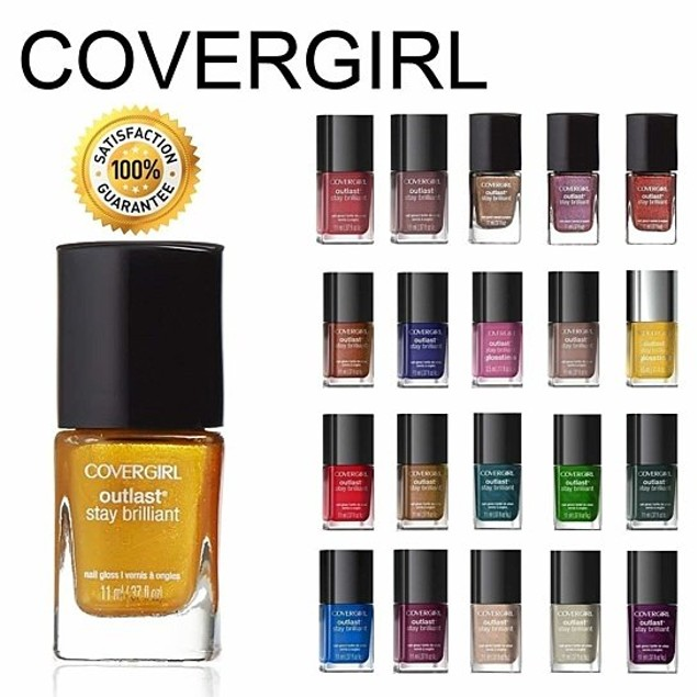 5-Pack CoverGirl Outlast Stay Brilliant Nail Gloss Color Polish