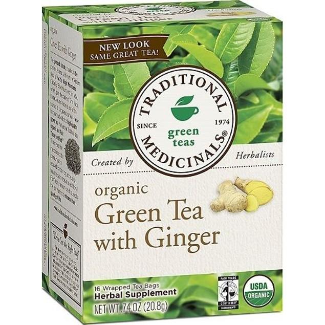 Traditional Medicinals Tea Organic Green Tea Ginger
