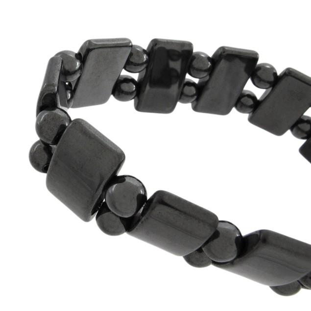 Stylish Black Hematite Bead Ladies Stretch Womens Stretch Bracelets