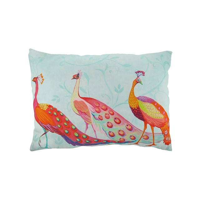 Perfect Trio Peacocks In/Outdoor Decorative Throw Patio Furniture Pillows