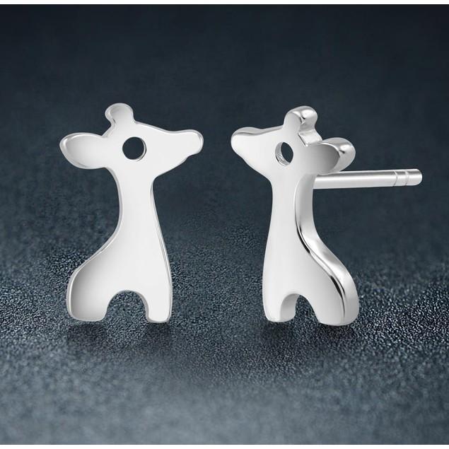 Sterling Silver Giraffe Stud Earrings