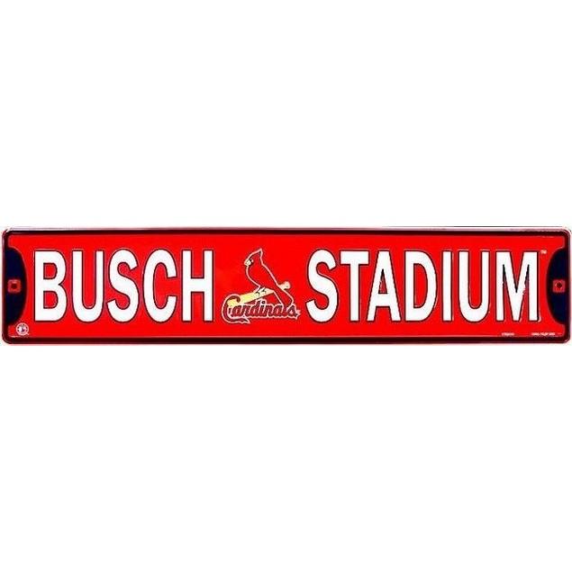 St. Louis Cardinals MLB Busch Stadium Street Sign