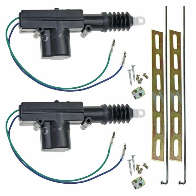 Zone Tech 2x Universal High Power Heavy Duty Door Lock Actuator
