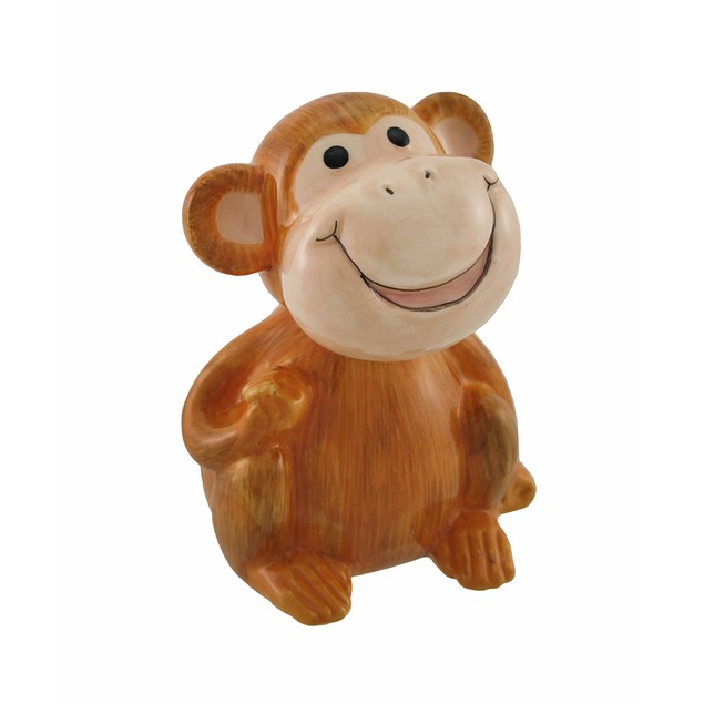 Ceramic Bobble Head Baby Monkey Statues