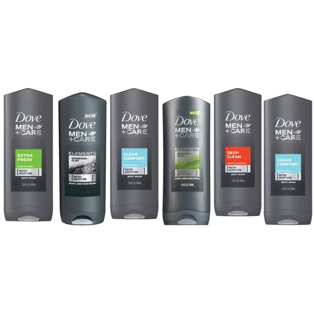 6-Pack Dove 400ml Men Shower Gel