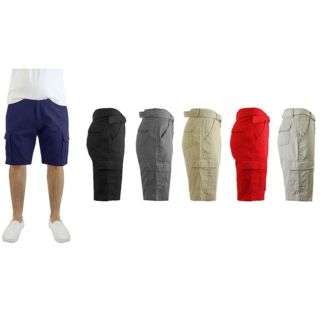 Cotton Belted Cargo Men's Shorts