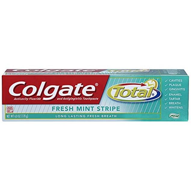16pc Colgate Bundle 12-Pack Toothbrush + 4Pack Fresh Mint Stripe Toothpaste