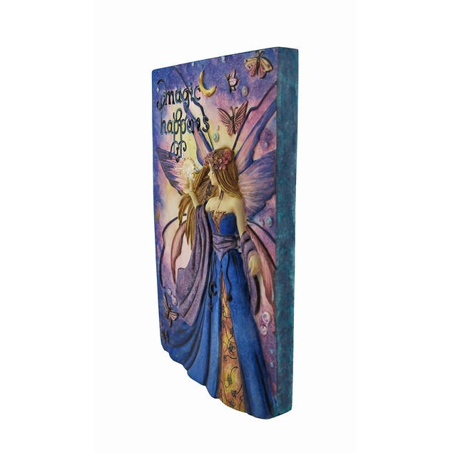 Jessica Galbreth `Magic Happens` Fairy Wall Plaque Decorative Plaques